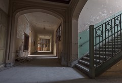 Recess on. (Ewski Images) Tags: beautyindecay stairs hallway school decay abandoned