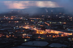 Norilsk Old City (Алексей Скляренко) Tags: siberia norilsk norilsknickel north northrussia northsiberia metallurgy night smoke polar winter mountains longexposure pipes норильск сибирь красноярскийкрай север северсибири норильскийникель никель медь завод надежда металлургия hope factory ecology трубы дым экология зима