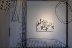 "Mayako Nakamura solo show ""Layers and Layers"" Gallery Mirume, Chofu, Tokyo (Photo by Ryoma Suzuki) (mayakonakamura) Tags: gallerymirume soloshow mayako nakamura mayakonakamura layersandlayers layers contemporaryart tokyo chofu automatic automaticdrawing abstract expressionism acrylic drawing positivenegative workinprogress canvas cheesecloth tracingpapaer plexiglass window chalkboardpaint images installation semiabstract cupandsaucer overgraze handpainted photoryomasuzuki"