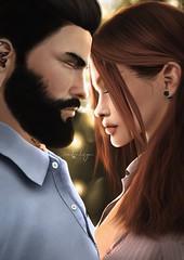 . t i m e  s t a n d s  s t i l l . (Cataleya.) Tags: love couple secondlife sl avatar digitalpainting virtualworld keir cataleya