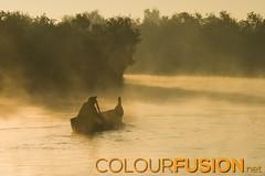 Boat on river between Mrauk U and Sittwe, Myanmar (Colourfusion.net) Tags: orange foggy fog boat paddle man morning simple river water canoe outdoor myanmar burma mrauku sittwe ferry travel matthiasgeffert silhouette