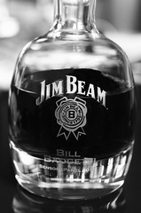 I'll have another (Madisen Sawyers) Tags: drink alcohol liquore liquor jim beam whiskey bourbon glass natural light blackandwhite still life abstract bottle