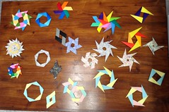 Assorted Expandables (maplecrane) Tags: origami modular toy actionmodel