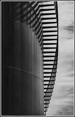 190220_0004_Gasometer Gustavsburg R.jpg (juergenfrother) Tags: architecture gasometer schwarzweis blackandwhite bw treppe stairs