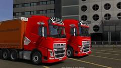 i`am and Misha FIN Bogdanov (black_moloko) Tags: ets2 eurotrucksimulator2 volvo kreiss collicare pno truck trailer tallinn estonia