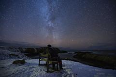 Selfie (Les Armishaw) Tags: snow milkyway stars atlantic sea ocean night sky longexposure