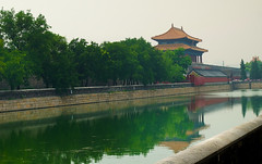 Outside the Forbidden City, Beijing (Bokeh & Travel) Tags: forbiddencity china beijing peking qing dynasty empire moat water reflection traditional chinese architecture asia beautiful colourful scene landscape city cityscape palace emperor walls