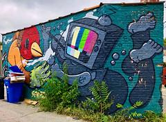 Kill Your Television by Sentrock & Mosher (wiredforlego) Tags: mosher graffiti mural streetart urbanart aerosolart publicart chicago illinois ord sentrock