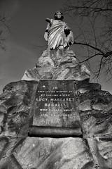 Here lies Lucy. (Steve.T.) Tags: blackandwhite bnw bromptoncemetery victorian grave memorial graveyard nikon d7200 sigma18200 statue cemetery headstone westlondon necropolis architecture lucymargaretbashall