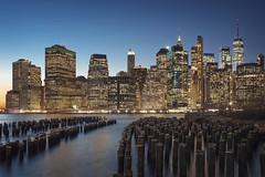 New York New York 2019 (Nowords!) Tags: nyc ny new york blue hour tájkép város este usa amerika foto photo mood moody kékóra fuji fujifilm fujinon xf1655 magyar fotós éjjel naplemente brooklyn bride cölöp long exposure love postcard travel