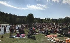 Söderbysjöns badplats en varm sommardag