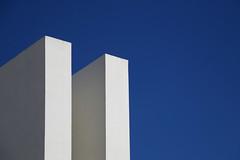 Day 460 (material grrrl) Tags: 365 architecture building blue white minimal minimalism koteks