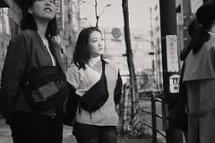 Waiting to cross the street (Bill Morgan) Tags: fujifilm fuji xpro2 35mm f2 bw jpeg acros alienskin exposurex4