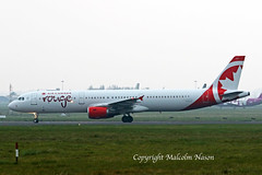 A321 C-GHPD AIR CANADA ROUGE (shanairpic) Tags: jetairliner passengerjet wow shannon a321 airbusa321 tfkid cghpd