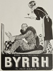BYRRH - il fait chaud ! (OldAdMan) Tags: byrrh ilfaitchaud blackwhite lady maid georgesleonnec 1931 shinyshoes