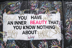 DSC_6154 Shoreditch London Old Street Artwork. You have an inner Beauty that you know nothing about (photographer695) Tags: shoreditch london old street artwork you have an inner beauty that know nothing about