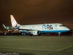 flybe G-FBJG HAJ at Night (U. Heinze) Tags: aircraft airlines airways airplane planespotting plane flugzeug night olympus penf 1240mm haj hannoverlangenhagenairporthaj eddv