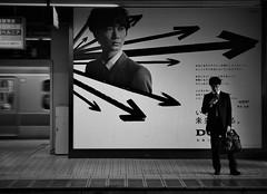 waiting time (reiko_robinami) Tags: streetphotography station platform monochrome blackandwhite urban train tokyo japan