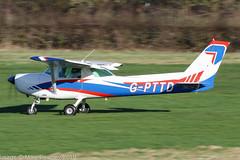 G-PTTD - 1981 Reims built Cessna F152, rolling for departure on Runway 32 at Barton (egcc) Tags: 1840 barton ce152 cessna cessna152 cityairport egcb f152 gbixh gpttd lightroom manchester nalassetmanagement reims