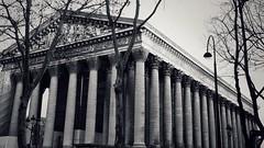 Greek revival, Paris style … (marc.barrot) Tags: bw monochrome greekrevival architecture buildt church france paris 75008 placedelamadeleine églisedelamadeleine