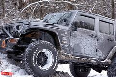 Jeep Wrangler (Brandon Bailey Design/Photography) Tags: jeep wrangler turbo off road snow suv vehicle auto car automobile automotive fuel wheels winter woods wood tree forest snowy nikon photo photography photographer
