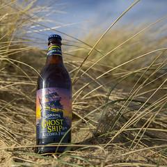 Ghost Ship AF bottle in dunes (Adnams) Tags: ghostship ghostship05abv beer dunes southwold southwoldbeach