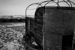 Prairie Winter (Ray Mines Photography) Tags: white black snow winter cold prairie montana steel wood rusty rustic historic vintage old abandoned