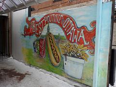 Best poutine in Ottawa mural at Sache Ice Cream in the ByWard Market in Ottawa, Ontario (Ullysses) Tags: marchéby ottawa ontario canada winter hiver sashaicecream mural murale thebestpoutineinottawa bywardmarket marketing lowertown