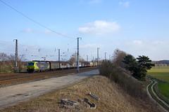 TX Logistics 193 554 Leitwolf + 46702 Verona - Rostock  - Saarmund (Rene_Potsdam) Tags: saarmund txlogistics vectron br193 railroad brandenburg deutschland europa europe treinen trains züge trenes