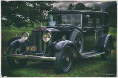 Basic Black (* Gemini-6 *) Tags: rollsroyce carshow car automobile hdr vehicle transportation framed vintage black chrome reflection