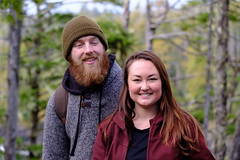 Max Byng and Tapia Imhoff hiking at Uluelet-February 2019 (Dave Byng) Tags: ucluelet portrait winter forest people canada tofino pacificocean britishcolumbia