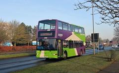 SN51 AXP, Ipswich Buses Dennis Trident 25, Heath Road, 22nd. February 2019. (Crewcastrian) Tags: ipswich buses ipswichbuses transport heathroad dennistrident plaxton president sn51axp 25