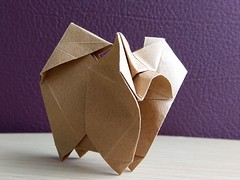 Chow-chow designed by Hideo Komatsu (Orizuka) Tags: hideokomatsu dog origami tantpaper