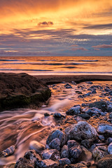 Rockaway Beach. Pacifica, CA. (j1985w) Tags: rocks river water longexposure pacifica california rockawaybeach sky clouds sunset