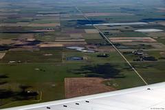 The Alberta Prairies (Can Pac Swire) Tags: planespotting airliner aircraft civilian passenger alberta calgary aerial 2017aimg1053 view