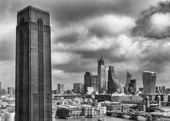 DSC00954-Edit (marksmith0701) Tags: tate modern london river thames walkietalkie cheesegrater monochrome bnw blackandwhite city cityscape bridge tower brick