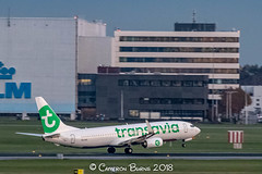 "Transavia PH-HXI B737-800 (IMG_2536) (Cameron Burns) Tags: transavia hv phhxi boeing boeing737 boeing737800 boeing738 b737 b737800 b738 agp malaga costadelsol costa del sol green white netherlands dutch holland amsterdam schiphol airport amsterdamschipholairport ""amsterdam schiphol"" ams eham airfield aviation aerospace airliner aeroplane aircraft airplane plane canoneos80d canoneos eos80d canon80d canon eos 80d haarlemmermeer ""luchthaven luchthaven europe action"