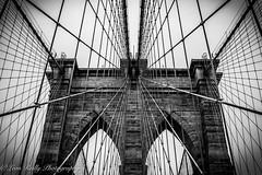 Brooklyn Bridge Mono (broadswordcallingdannyboy) Tags: ny usa us america newyork copyright leon reilly eos7d eflens cityscape canon winter creative lightroom metropolis iconic 2019 newyorkcity reflection lights citylights newyorkstateofmind newyorkminute donotcopy leonreilly eastcoast nyc city copyrightleonreillyphotography newyorkwinter february2019 brooklyn bridge brooklynbridge bw blackwhite mononyc mono leonreillyphotography