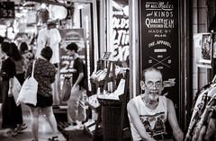 Store Keeper (dlerps) Tags: bkk bangkok city daniellerps lerps sony sonyalpha sonyalpha99ii tha thai thailand urban lerpsphotography metropolitan chatuchakmarket monochrome blackwhite man old glasses sitting market grandpa male weekendmarket bw marketstall carlzeiss streetphotography sign asia asian carlzeissplanar50mmf14ssm happyplanet asiafavorites
