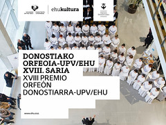 José Luis Loidi, Lourdes Yarza y Raúl del Toro, ganadores del XVIII Premio Orfeón Donostiarra-UPV/EHU (EHUkultura) Tags: ehu ehukultura upvehu orfeóndonostiarra