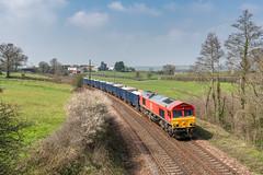 Follaton sand (Rails West) Tags: class66 dbs66 devon follaton locations sandliner 6c12 66041