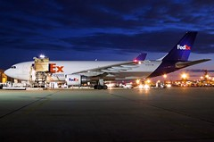N748FD FedEx Express A300F4-622R in KCLE (GeorgeM757) Tags: fedexexpress federalexpress freighter nightairplane aircraft aviation airport airbus airfreight cargo kcle clevelandhopkins georgem757 n748fd canons100
