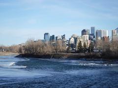 Calgary on a sunny January day 2019 (davebloggs007) Tags: calgary alberta canada winter bow river 2019