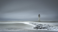 Hey, Snow!          Explore 16/1/19 (markrd5) Tags: wirral newbrighton blackrocklighthouse seascape longexposure wrs yin mood atmosphere spray waves wind rocks seadefence