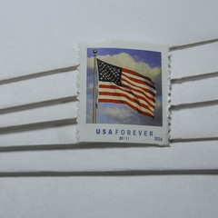The Stamp (clarkcg photography) Tags: minimalism stamp envelops white usforever lookingcloseonfriday