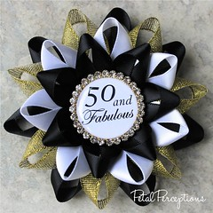 """Planning a 50th birthday party? This """"50 and Fabulous"""" pin can also be customized in your chosen colors at no extra charge. #50 #birthday #overthehill https://t.co/VMTjWrlA6f https://t.co/ZTu4CnCetw (petalperceptions.etsy.com) Tags: etsy gift shop fashion jewelry cute"""