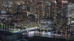 Kachidoki (B Lucava) Tags: tokyo sumidariver kachidoki bridge city cityscape night nightscape building lighttrail longexposure reflection urban citylights