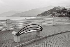 Ventimiglia. Canon eos 3000V + ilford delta 100 (paolapaoletta) Tags: canoneos3000v delta100 biancoenero blackandwhite seafront lungomare ventimiglia liguria italy