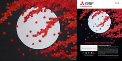 真紅の秋 - Scarlet Autumn (清水みのり - Artist) Tags: minorishimizu風 origami kyoorigami mitsubishi 清水みのり 京おりがみ 折り紙 日本画 三菱電機