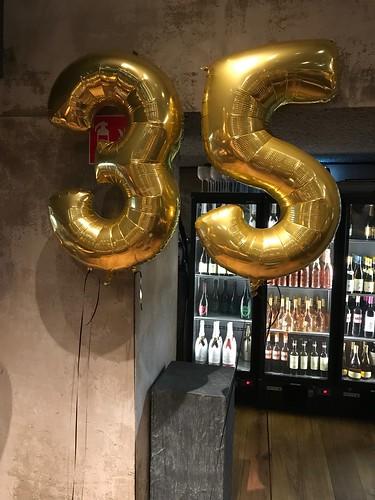 Folieballon Cijfer 35 Cafe in the City Rotterdam